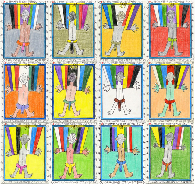 , 'The man hung by colors, from the back ,' 2011, Magnin-A
