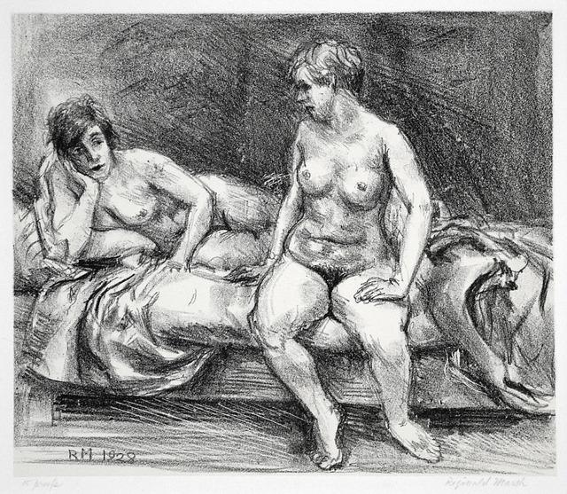 , 'Two Models on a Bed,' 1928, Harris Schrank Fine Prints