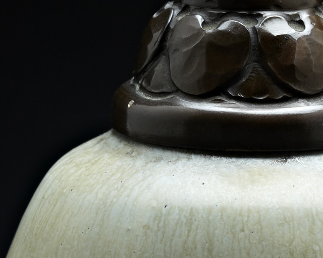 Royal Copenhagen Porcelain Manufactory, 'Xandu', ca. 1930, Design/Decorative Art, Glazed Stoneware and Patinated Copper, Jason Jacques Gallery