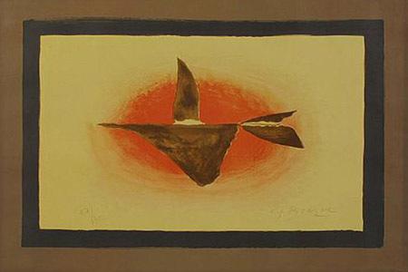 Georges Braque, 'Au Couchant (Oiseaux XVI)', 1958, Print, Lithograph, F.L. Braswell Fine Art