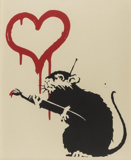 Banksy, 'Love Rat', Print, Screenprint in colours, Forum Auctions