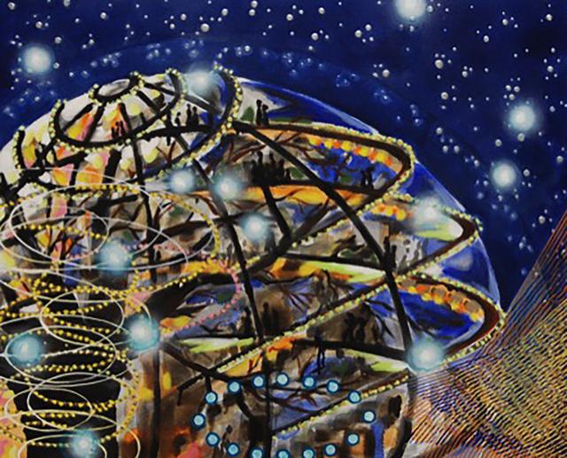 Michiko Itatani, 'Michiko Itatani, Treehouse Encounter from Cosmic Theater TH3 ', 2014, Anita Shapolsky Gallery