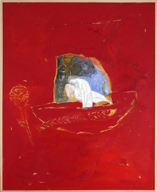Raúl Díaz, 'Sobre Fondo Rojo', 2003, Painting, Acrylic on wood, Pan American Art Projects