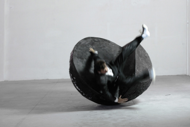 , 'Action with Rolling Chaise Longue,' 2013, : BARIL