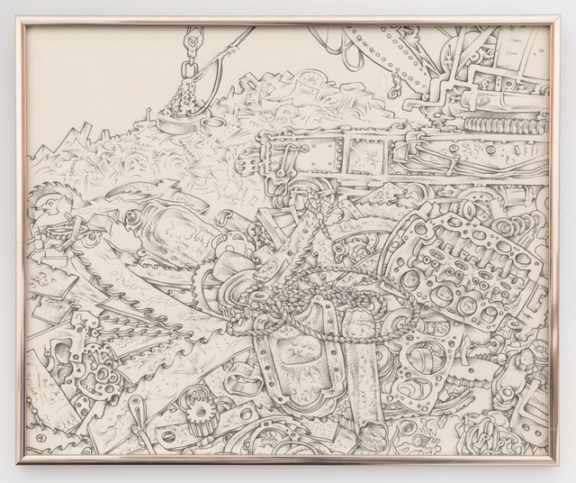 , 'Untitled (junk yard with magnet bulldozer),' ca. 1976, P.P.O.W