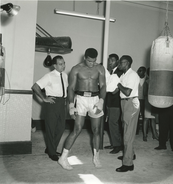 , 'Londres, août 1966,  Mohammed Ali prepares his fight against Brian London, in the company of his manager (left of the image) and his assistant.,' 2017, Galerie Clémentine de la Féronnière