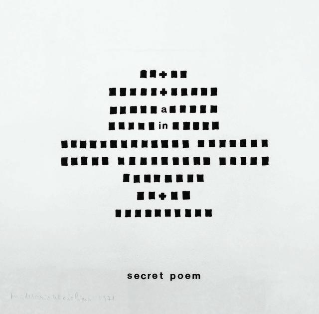 , 'Secret Poem, da série Mapas Mentais,' 1971, Galeria Millan
