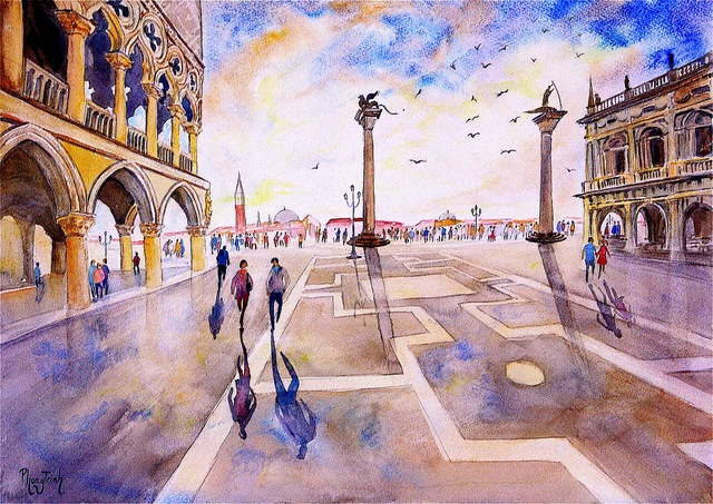 , 'After the Rain, Piazza San Marco,' , Emillions Art