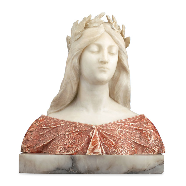 , 'Alabaster and Onyx Bust,' ca. 1910, M.S. Rau Antiques