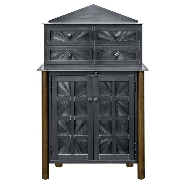 Jim Rose, 'Starburst Cupboard with Chest of Drawers', 2019, Design/Decorative Art, Hot roll and found natural rusted steel, Gallery Victor Armendariz