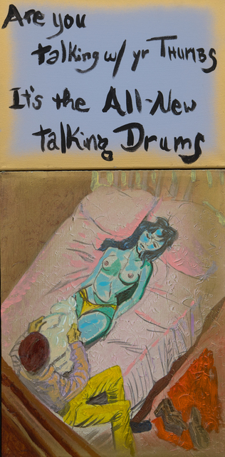, 'Are you talking w/ yr Thumbs It's the All-New talking Drums,' 2017, Freight + Volume