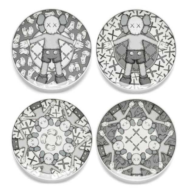 KAWS, 'Limited Ceramic Plate Set - Grey (Set of 4)', 2019, Lougher Contemporary