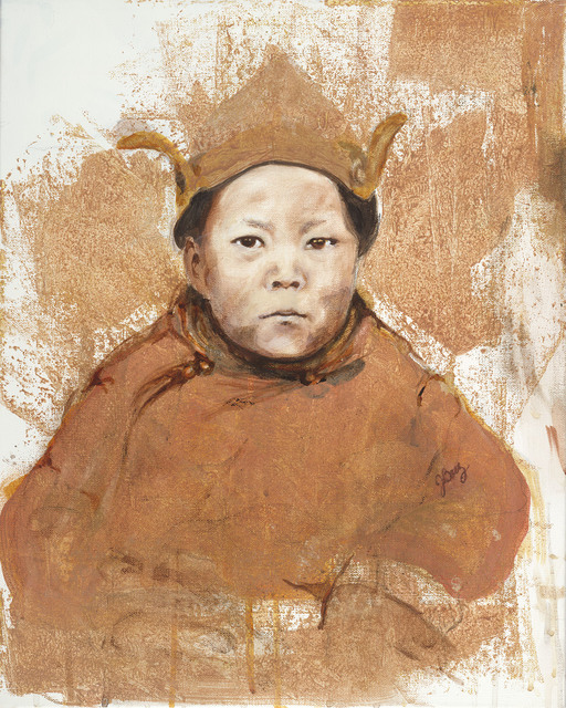 , 'Dalai Lama as a Boy,' 2016, Seager Gray Gallery