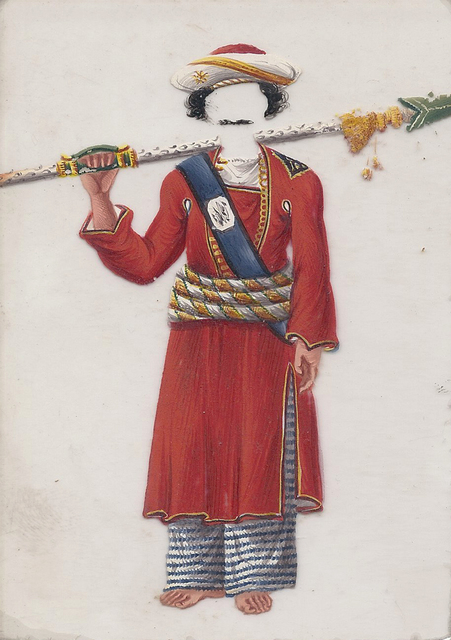 , 'Silver-stick bearer (Chobdar),' , Swaraj Art Archive