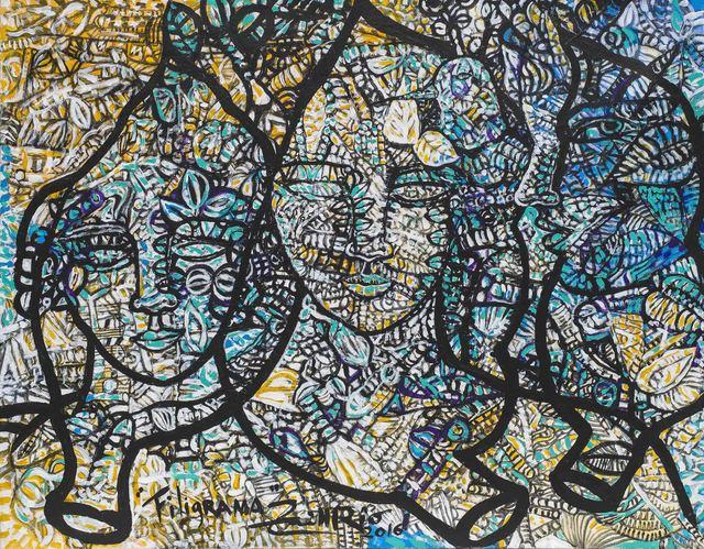 Zaida del Río, 'Filigrana', 2016, Painting, Mixed on canvas, ArteMorfosis - Cuban Art Platform