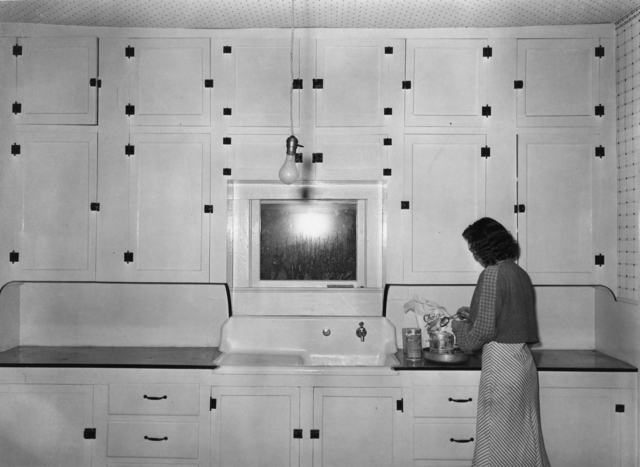 Russell Lee, 'Kitchen of tenant purchase client; Hidalgo County, Texas (Farm Security Administration)', 1939, Photography, Gelatin silver print, Etherton Gallery