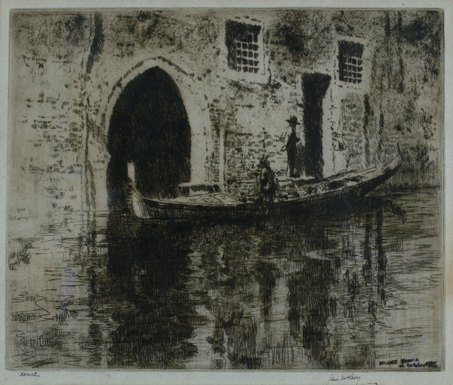 James McBey, 'The Deserted Palace', 1928, Private Collection, NY