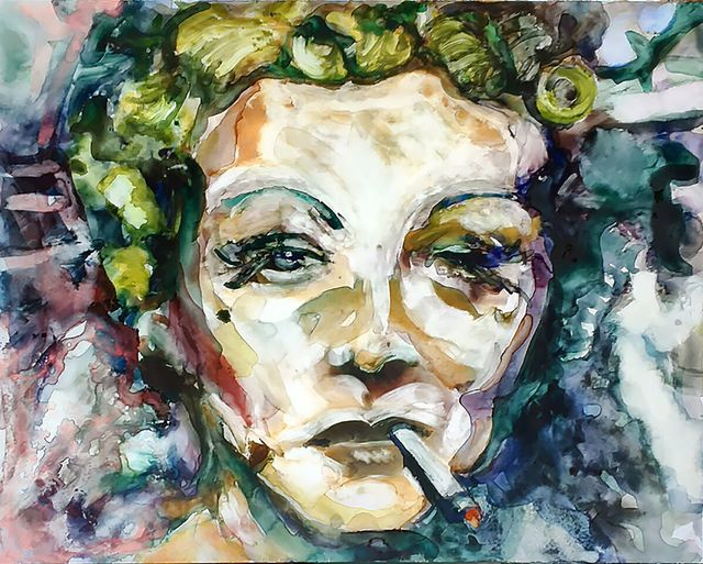 ", '""I am not a myth."" -- Marlene Dietrich,' 2017, Ro2 Art"