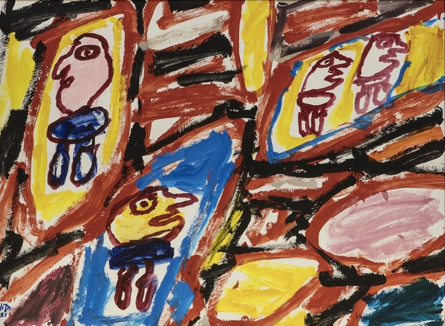 Jean Dubuffet, 'Site avec 4 personnages, 31 aout 1981', 1981, Opera Gallery