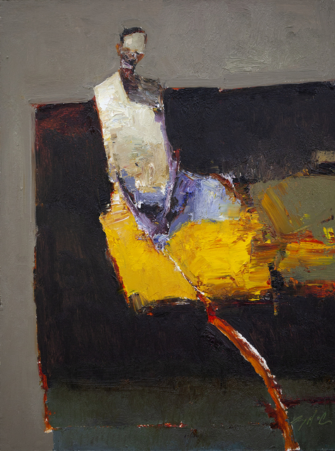 Danny McCaw, 'Abstract Figure', 2019, Painting, Oil on board (framed), Sue Greenwood Fine Art