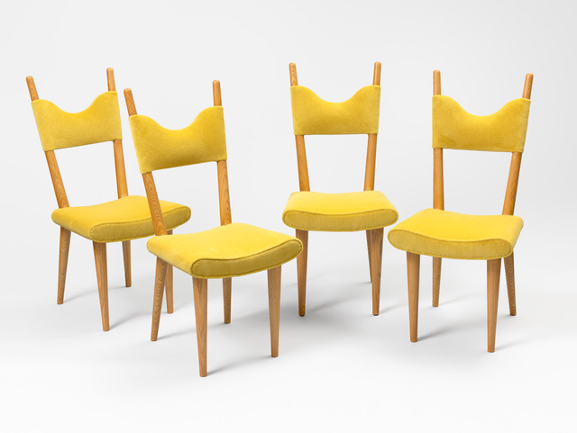 ", 'Set of 4 ""baltique"" chairs,' ca. 1950, Galerie Jacques Lacoste"