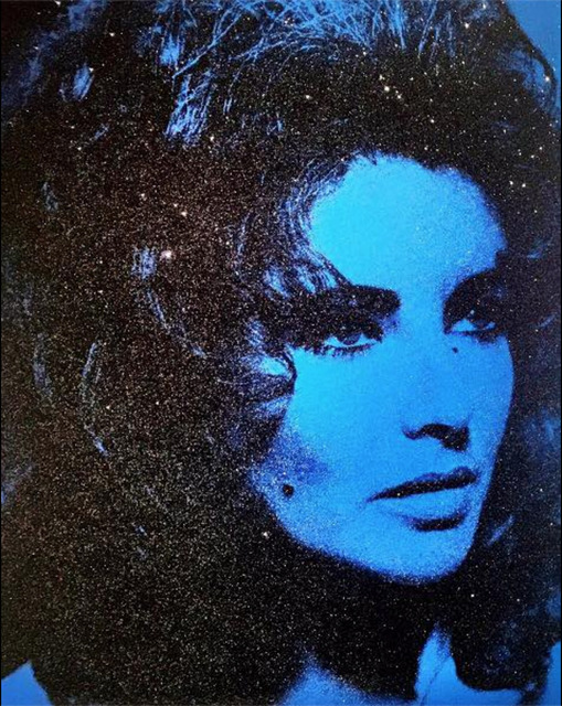 , 'Liz Taylor - Mediterranean Blue and Black,' 2011, Maddox Gallery