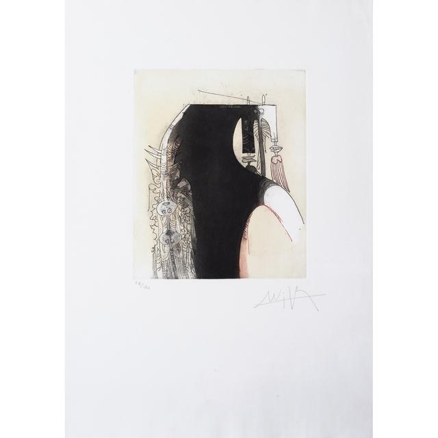 Wifredo Lam, 'Vingtième parallèle, planche 1', 1966, Print, Etching and aquatint in colors on Goya vellum, PIASA