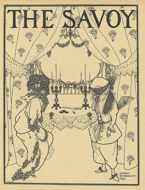 Aubrey Beardsley, 'Title page design for No. 1 of The Savoy, printed in A Book of Fifty Drawings, by Aubrey Beardsley ', ca. 1897, Print, Book page, Heroes Gallery