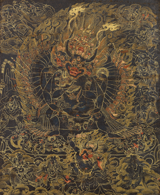 , 'Black ground thangka of Vajrabhairava,' 17th century, Rossi & Rossi