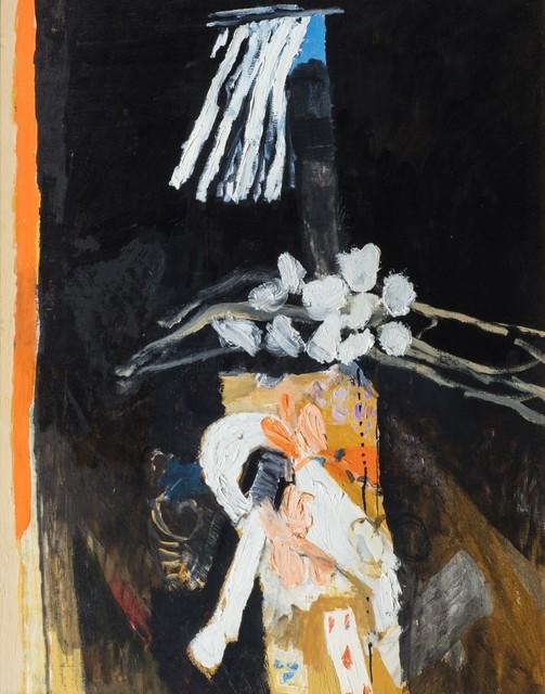Alberto Gianquinto, 'Interno con tenda che vola e ramo fiorito', 1984, Finarte