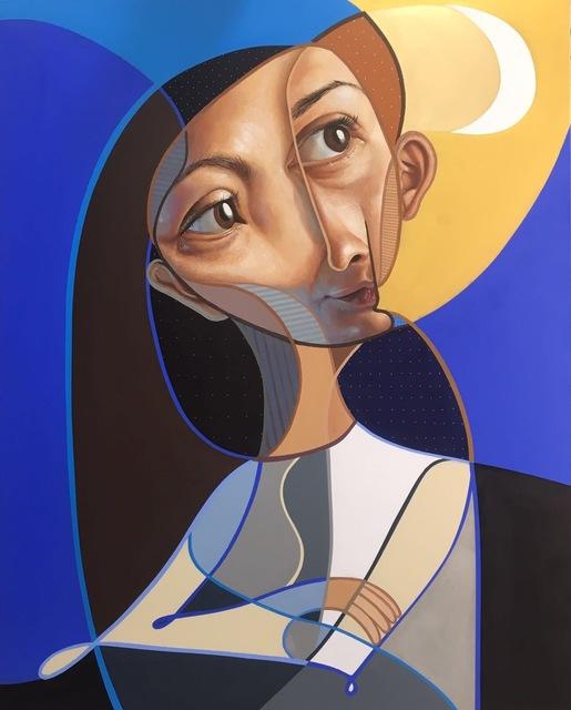 , 'Mujer sonriendo a su luna,' 2018, NextStreet Gallery