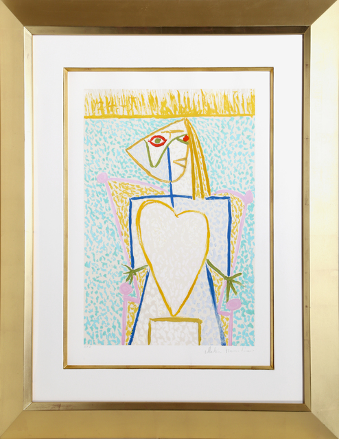 Pablo Picasso, 'Femme Au Buste en Coeur', 1973-Originally created in 1945, RoGallery