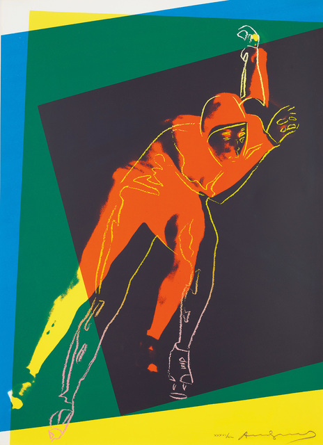 Andy Warhol, 'Speed Skater, from Art and Sports portfolio', 1983, Print, Screenprint in colours, on Arches 88 paper, the full sheet., Phillips