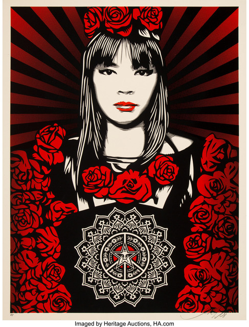 Shepard Fairey (OBEY), 'Rose Girl', 2008, Heritage Auctions