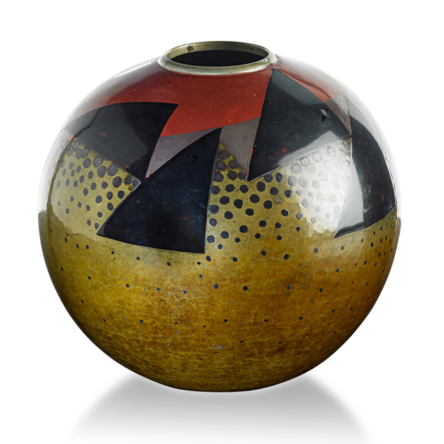 Jean Dunand, 'Vase With Triangles And Dots, France', Rago/Wright