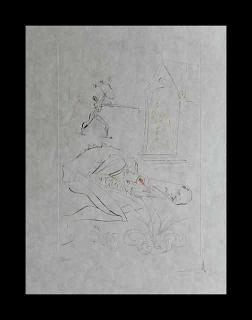 Salvador Dalí, 'La Quete du Graal Fight Before la Dame de Malehout', 1975, Print, Etching, Fine Art Acquisitions Dali