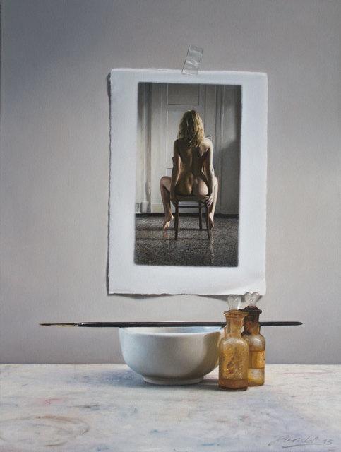 , 'Stefanie vor Malutensilien,' 2015, Galerie Klose