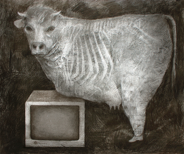 , 'Cow and TV,' 2015, Contemporary Art Platform Kuwait