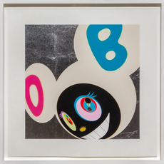 Takashi Murakami, 'And then White and Black', 2005, Mixed Media, Platinum leaf, silkscreen ink, pencil, paper, Artificial Gallery