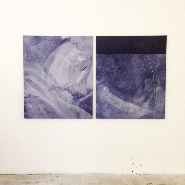 , 'Turbulence Subsides (Diptych),' 2017, GALERIE BENJAMIN ECK