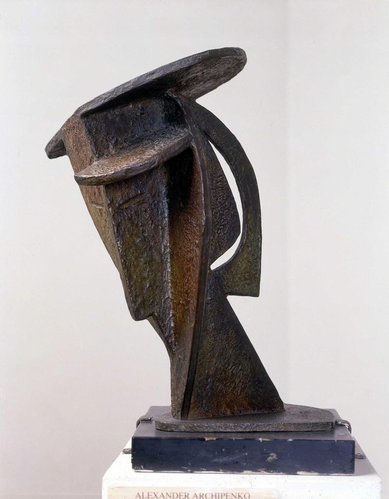 Alexander Archipenko   Bronze sculpture of a head   Artsy