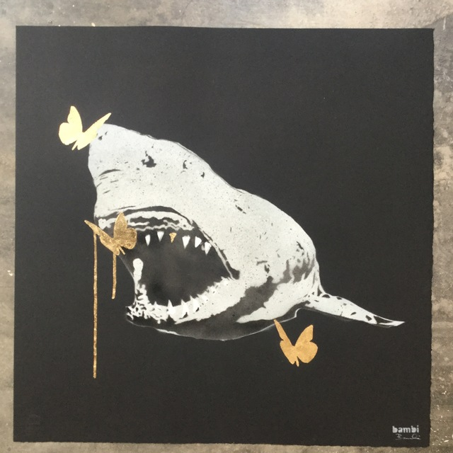 , 'Gold Tooth Shark with Butterflies (Three Golds) for THT,' 2018, Joseph Fine Art LONDON