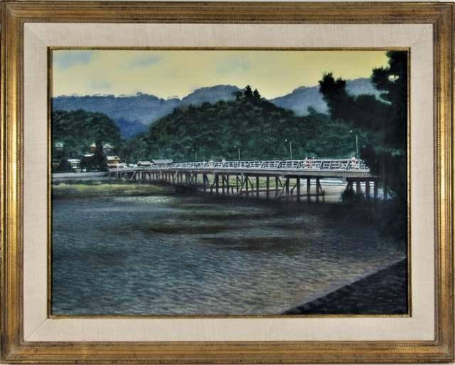"joseph morgan henninger, '""Vue of Chiloa Bridge, Japan"" ', ca. 1950, Joseph Grossman Fine Art Gallery"