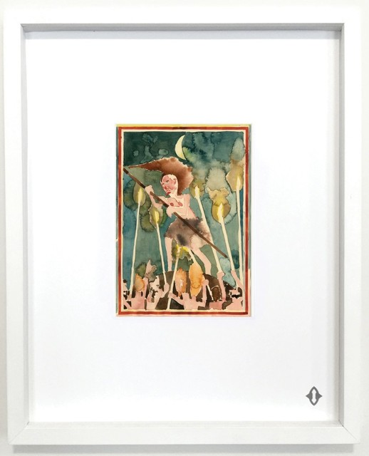 "Barnaby Furnas, 'SEVEN OF WANDS, From the series ""Contemporary Magic: A Tarot Deck Art Project"" Limited Edition 5th Anniversary Print Collection', 2015, Print, Museum archival digital print embossed with high gloss spot lacquer finish / framed 20 × 16 in 50.8 × 40.6 cm Edition 1/7 + 3AP, ART CAPSUL"