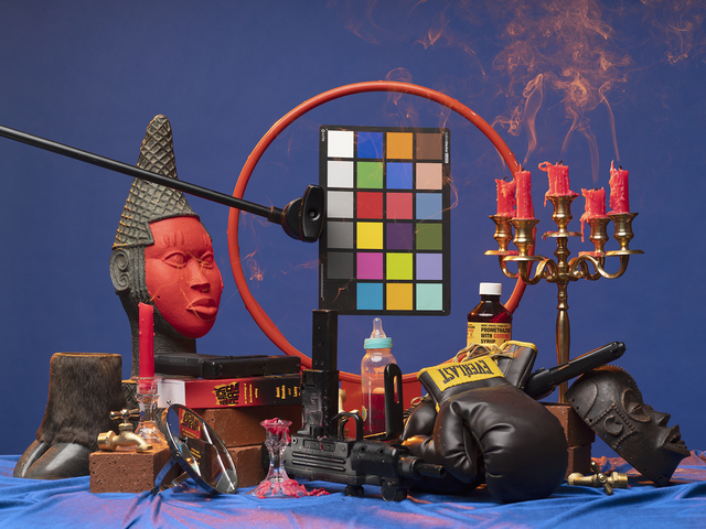 , 'Black Fire (Mouzone Brothas),' 2019, Ben Brown Fine Arts