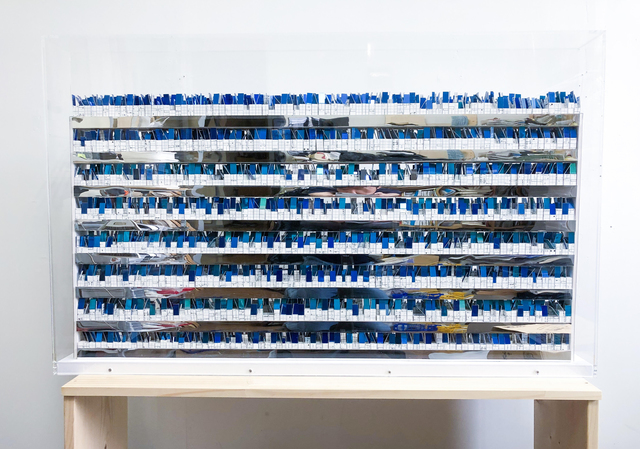 Katsumi Hayakawa, 'Accumulation Blue', 2018, Mixed Media, Dillon + Lee