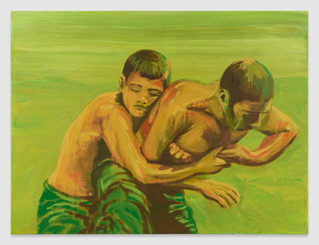 Claire Tabouret, 'The Grip', 2018, Painting, Acrylic on canvas, Almine Rech