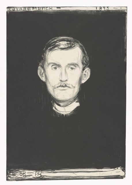 , 'Self-Portrait,' 1895, Munch Museum