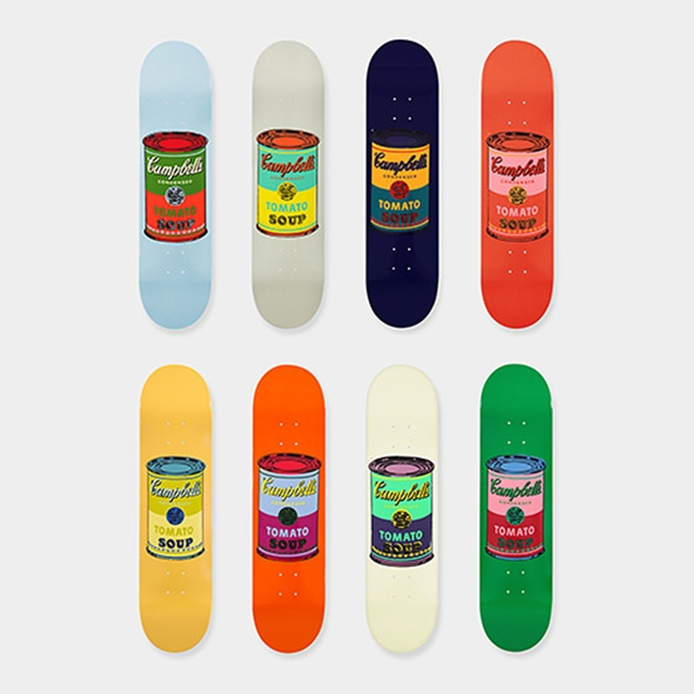Andy Warhol, 'Suite of Eight (8) Limited Edition Multi Colored Campbell's Soup Can Skate Decks ', 2015, Alpha 137 Gallery