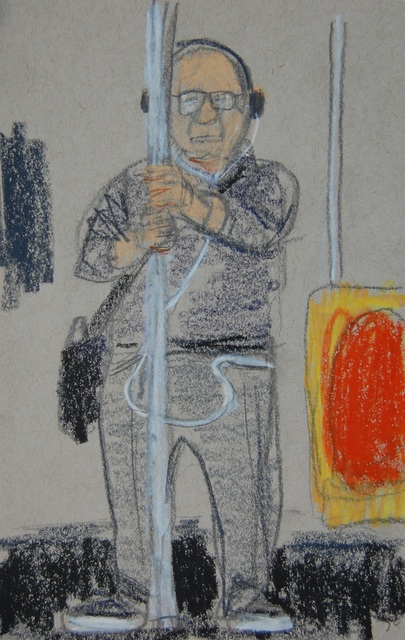 , 'Earphones, Glasses, Holding on to Pole,' 2016, Ground Floor Gallery